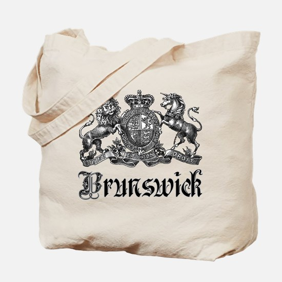 Brunswick Vintage Crest Family Name Tote Bag