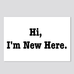 Hi, I'm New Here Postcards (Package of 8)
