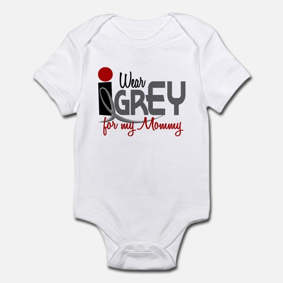 I Wear Grey For My Mommy 32 Infant Bodysuit
