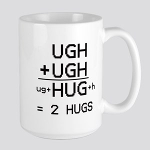 """HUG not UGH"" Large Mug"
