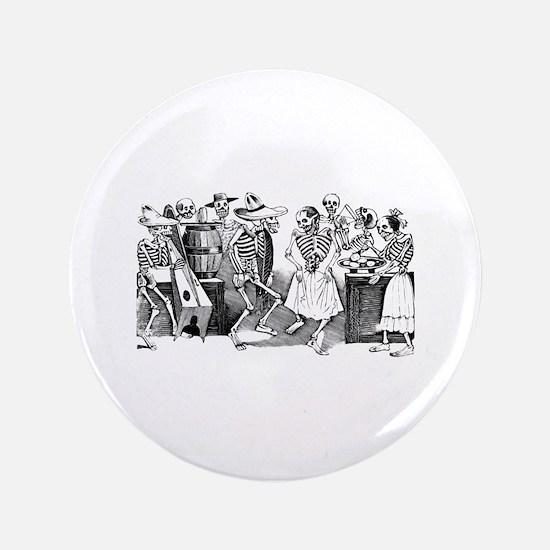 """Calavera Gran Fandango 3.5"""" Button"""