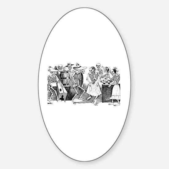 Calavera Gran Fandango Oval Decal