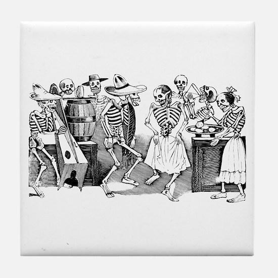 Calavera Gran Fandango Tile Coaster