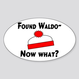 Found Waldo Oval Sticker