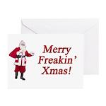 Merry Freakin' Xmas Greeting Cards (Pk of 10)