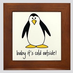 cute penguin Framed Tile