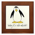 cute penguin Framed Tile