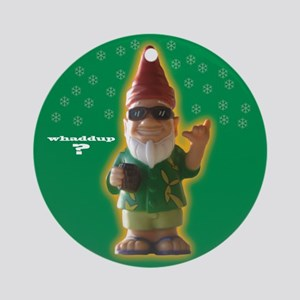 Whaddup? Xmas Gnome Ornament (Round)