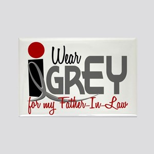 I Wear Grey For My Father-In-Law 32 Rectangle Magn