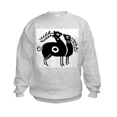 Persian Deer Kids Sweatshirt
