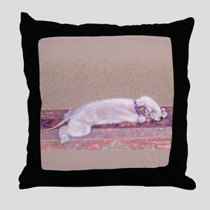 Bedlington-Sweet Dreams Throw Pillow