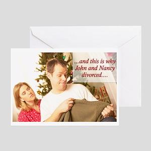 Why John & Nancy Divorced Greeting Card