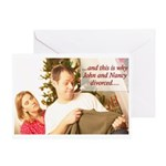 Why John & Nancy Divorced Greeting Card