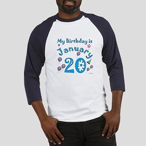 January 20th Birthday Baseball Jersey