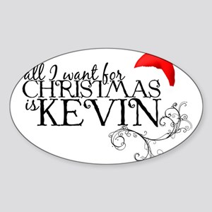 All I want for Christmas is Kevin Oval Sticker