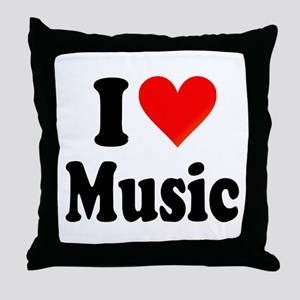 I Love Music: Throw Pillow