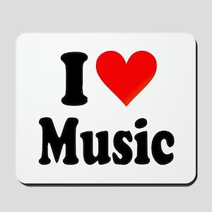 I Love Music: Mousepad