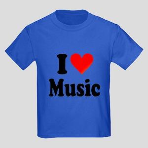 I Love Music: Kids Dark T-Shirt
