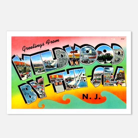 Unique Atlantic city nj Postcards (Package of 8)