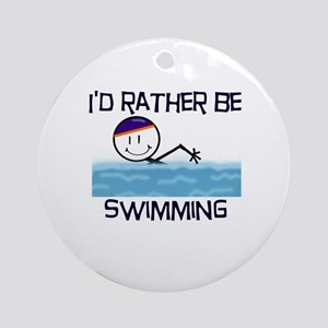 I'd Rather Be Swimming Ornament (Round)