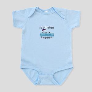 I'd Rather Be Swimming Infant Bodysuit