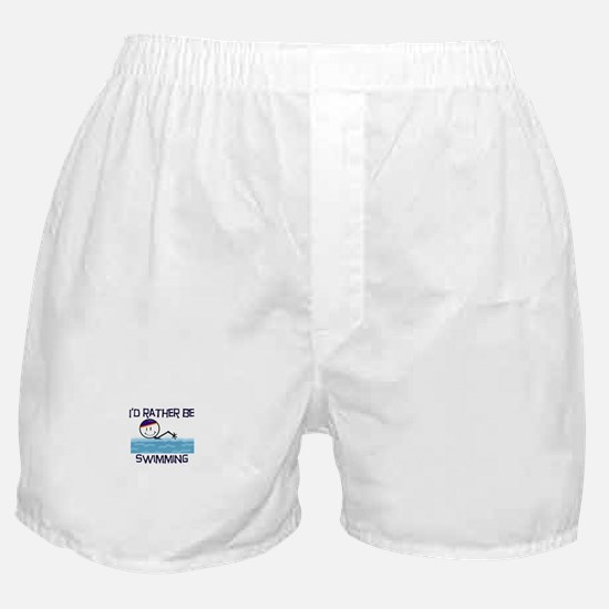I'd Rather Be Swimming Boxer Shorts