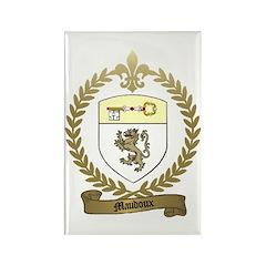 MAUDOUX Family Crest Rectangle Magnet