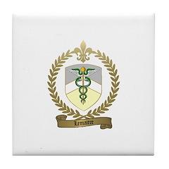 LEMAITRE Family Crest Tile Coaster
