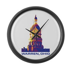 Warren Courthouse - Warhol Collec Large Wall Clock