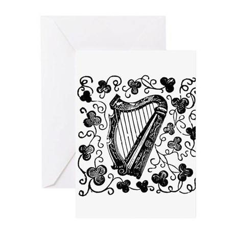 Clover Harp Greeting Cards (Pk of 20)
