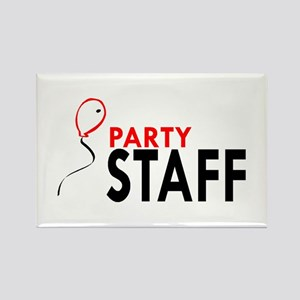 Party Staff Rectangle Magnet