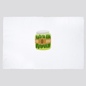Pickle Rise and Brine Foodie Gift 4' x 6' Rug