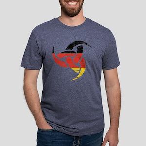 Triple Horn Odin Distressed German Design T-Shirt