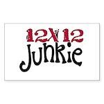 12x12 Junkie Rectangle Sticker