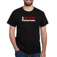 Heart Heart Heart 3somes Dark T-Shirt