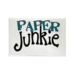 Paper Junkie Rectangle Magnet