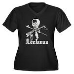 Leelanau Pirate - Women's Plus Size V-Neck Dark T-