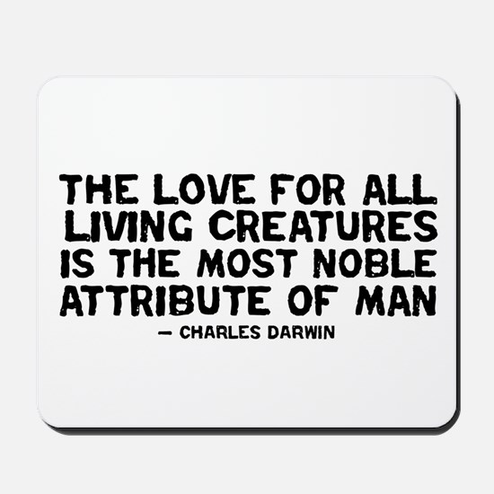 Quote Darwin - The Love Mousepad