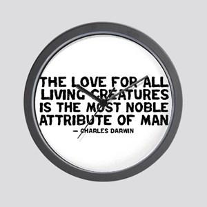 Quote Darwin - The Love Wall Clock