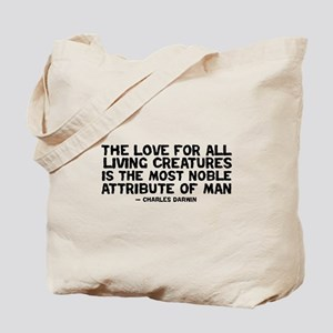 Quote Darwin - The Love Tote Bag