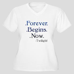 Forever Begins Now Women's Plus Size V-Neck T-Shir