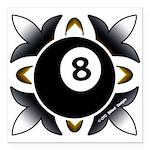 8 Ball Deco Square Car Magnet 3