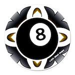 8 Ball Deco Round Car Magnet