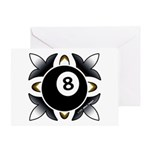 8 Ball Deco Greeting Cards