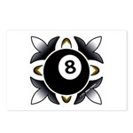 8 Ball Deco Postcards (Package of 8)