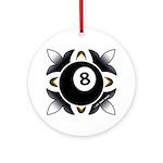 8 Ball Deco Round Ornament