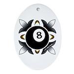 8 Ball Deco Oval Ornament
