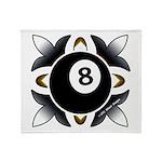 8 Ball Deco Throw Blanket