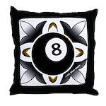 8 Ball Deco Throw Pillow