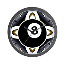 8 Ball Deco Wall Clock